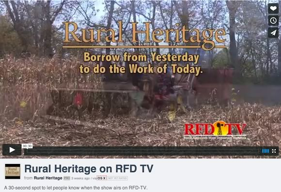 Rural Heritage on rfdtv