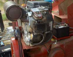 baler motor and flywheel