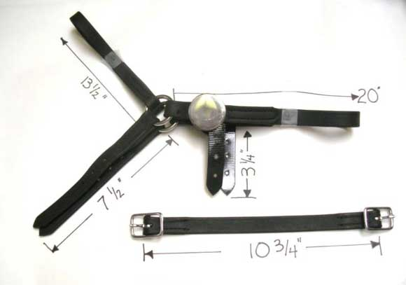browband-crown-throatlatch assemblyfolded browband-crown-throatlatch assembly